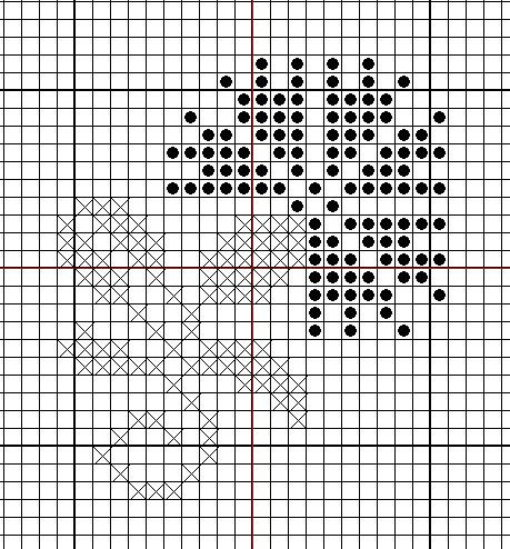 Black & White cross stitch pattern