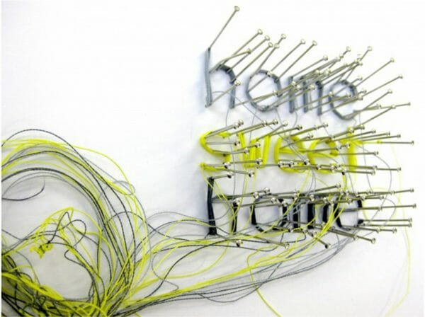 Debbie Smyth - Home Sweet Home - String Installation