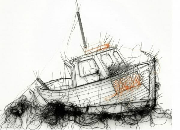 Debbie Smyth - Lifeboat - String Art