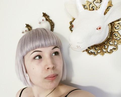 Zoe Williams with Needle Felt Artwork