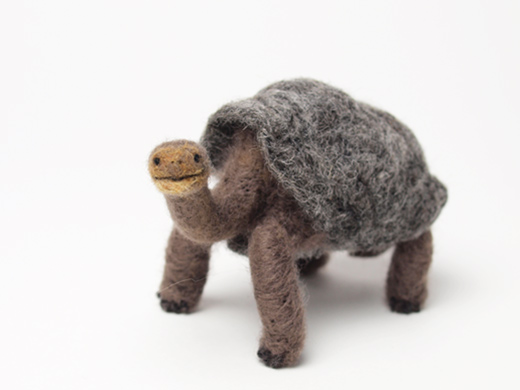 Miki Ichiyama's needle felted tortoise Lonesome George
