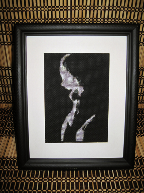 Pete Seazle - Blonde on Black cross stitch