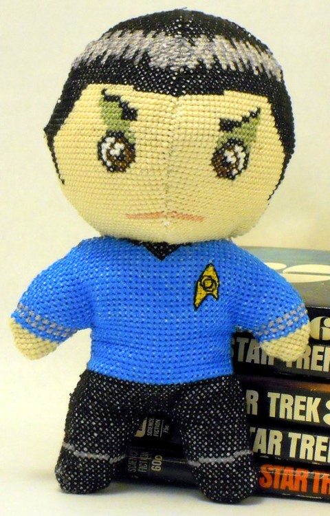 Robin Hobbs' Cross Stitched Spock