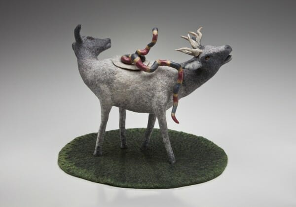 Dream felt in the form of work by the artist Susan Aaron-Taylor Wapiti-Pot