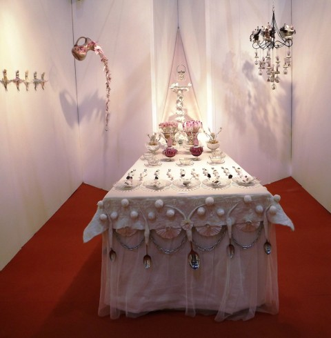 Sue Walton - 'The table set' in the Jabberwocky installation