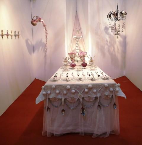 Sue Walton - 'The table set' in the Jabberwocky installation