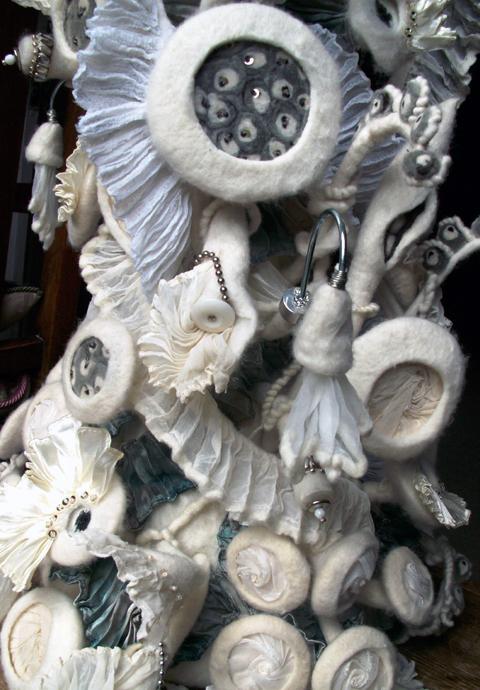 Sue Walton - 'Victoria' felt sculpture under glass dome