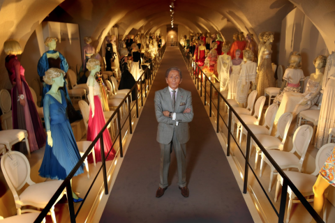 Valentino at the exhibition