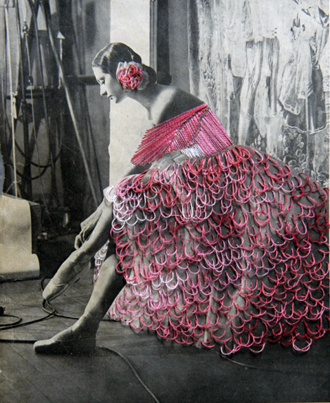 Jose Romussi - Dancer Mary Ellen Moylan - Embroidery on photo (2012)