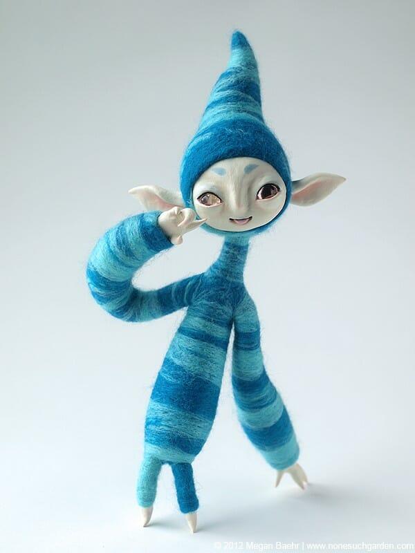 Nonesuch Garden - a blue bodied creature felt.