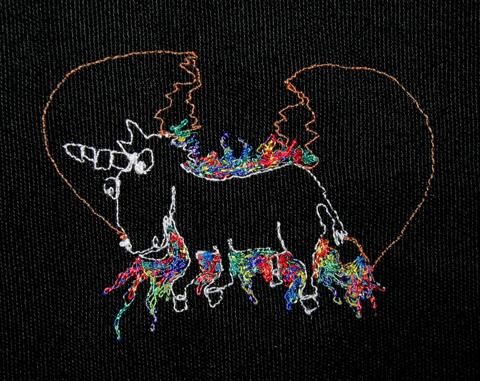 Paul Nosa - Birth Of A Unicorn - machine embroidery