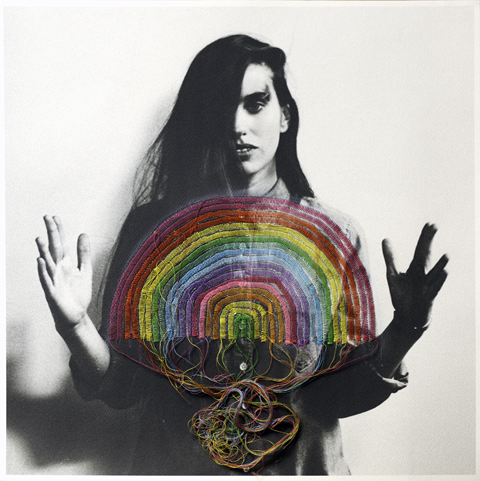 Jose Romussi - Rainbow, sewing machine on photo (2013)