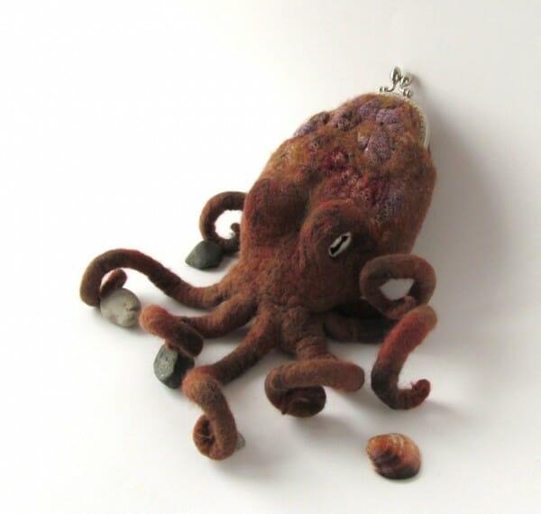 Galina Blazejewska Octopus Purse - functional felt!