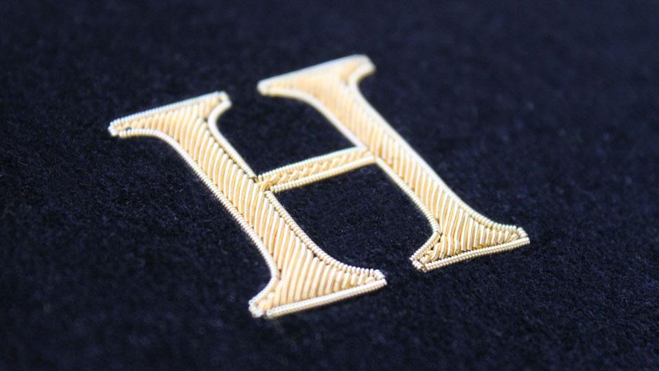 H Gold Work Monogram by Hawthorne & Heaney