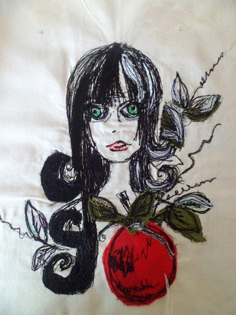 Nicola Elliott - Snow White - Free Machine Embroidery