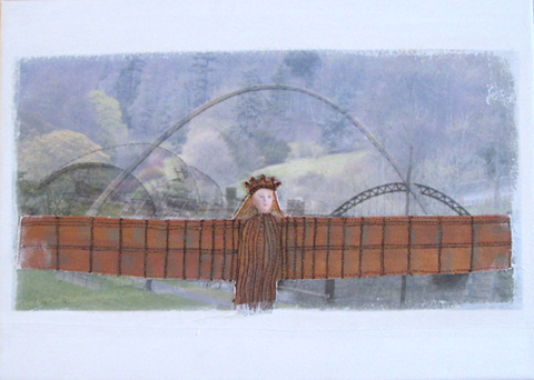 Linda Calverley - Queen Of The North - Mixed Media, Layers, Applique, Embroidery