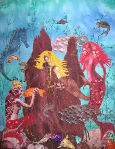 Linda Calverley - Magical & Mystical - Painted Fabrics, Digitally Printed Fabrics, Applique, Machine And Hand Stitching, Beads