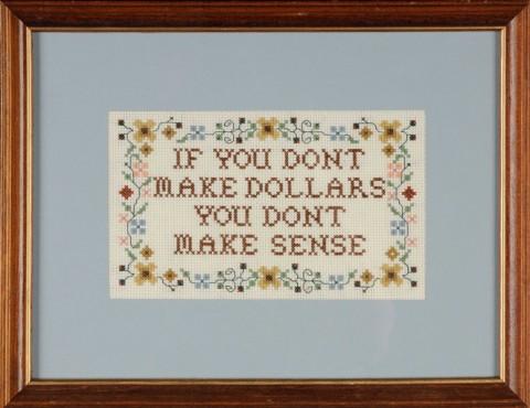 Davey Gravy - Make Dollars cross stitch
