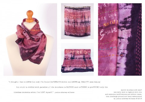 Justine Aldersey-Williams - Sacred Mundane Silk Scarf