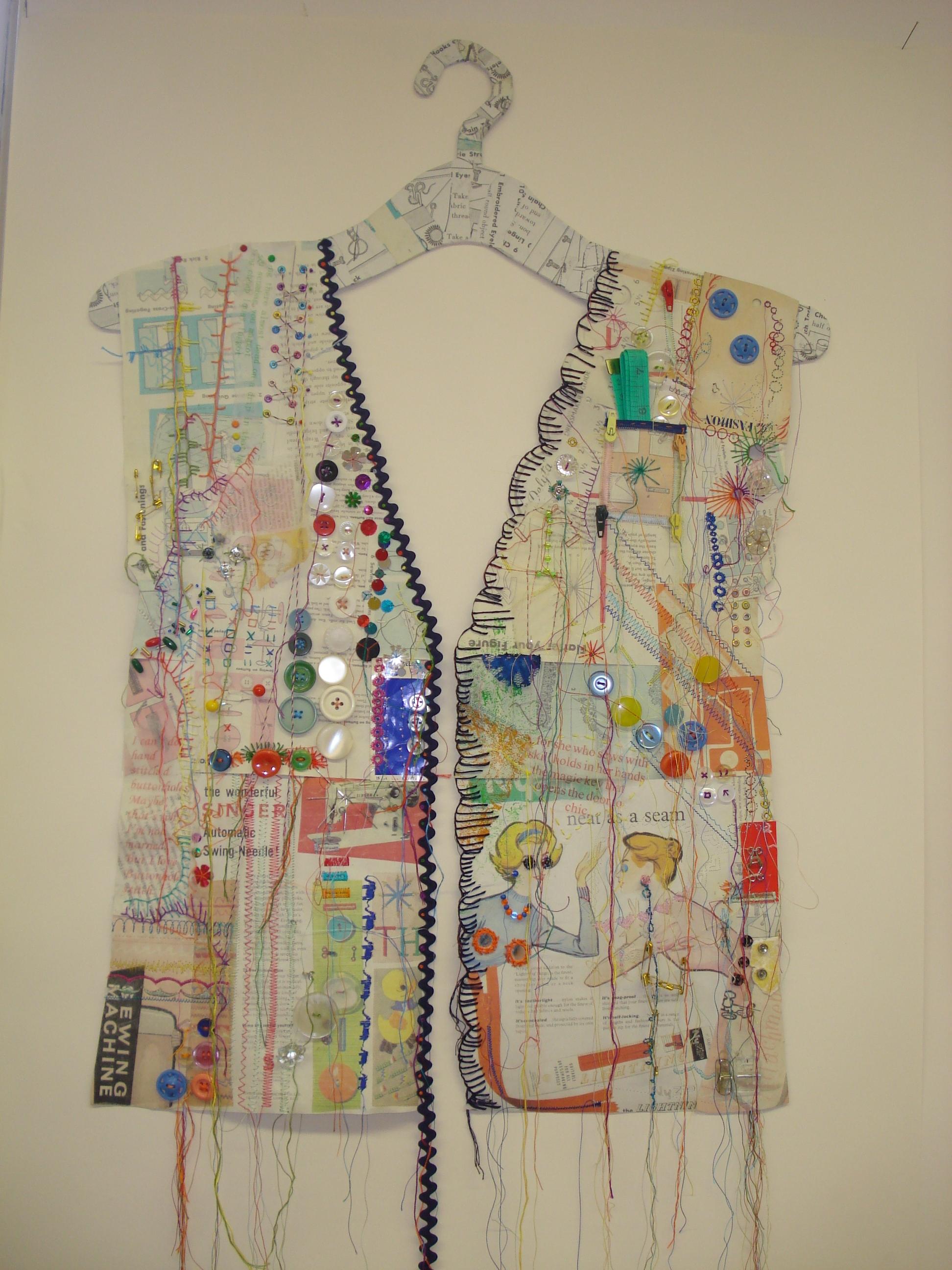 Lizzie Golden - Stitched Paper Hanging