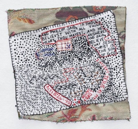 Nicole Briant - King James Version - hand embroidery