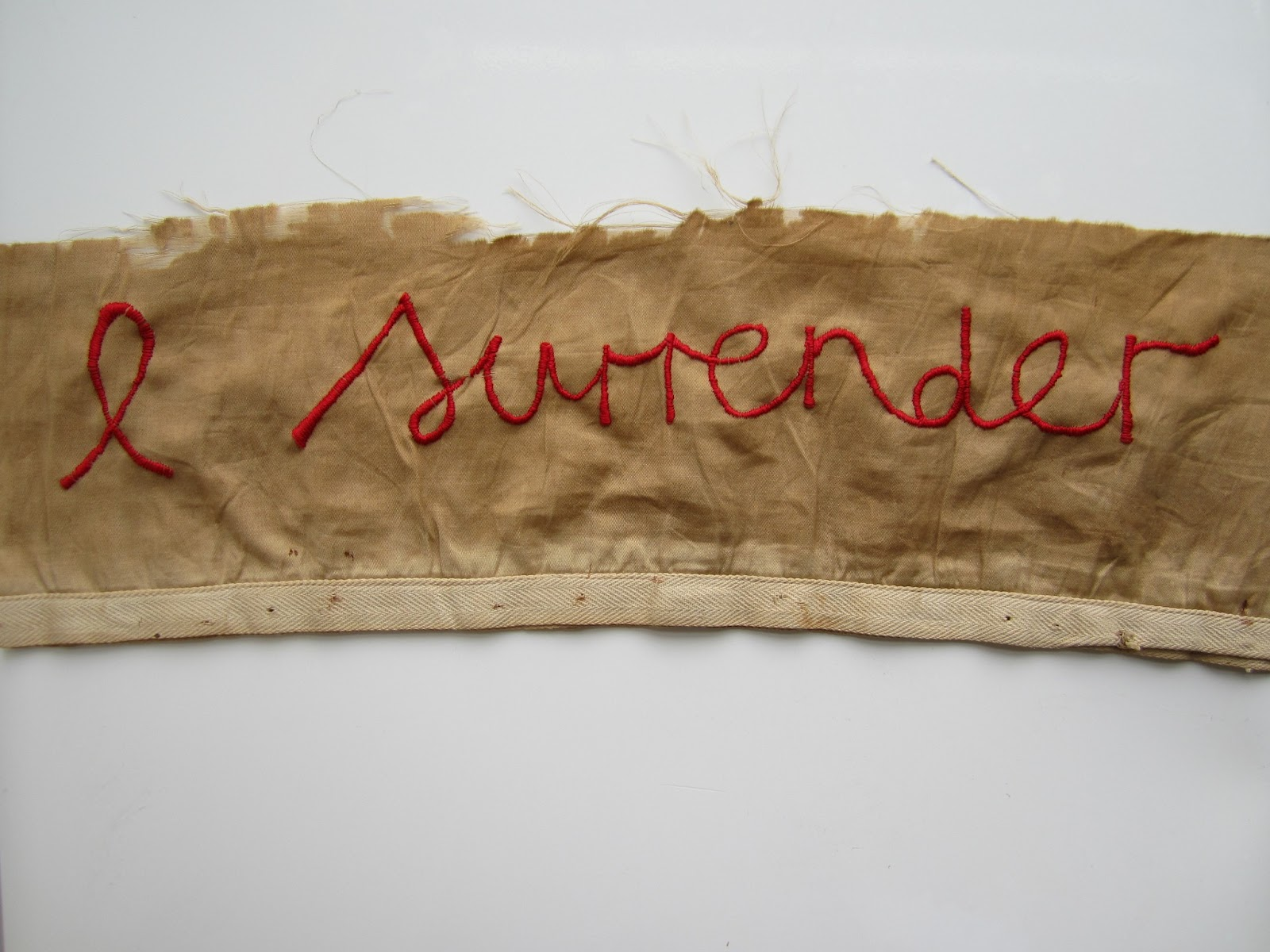 Stitch Therapy - I Surrender - hand embroidery