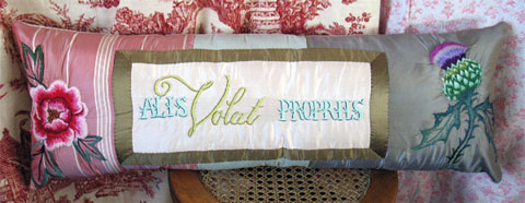 Tara Badcock - 'Alis Volat Propriis' (She flies with her own wings), (2012), Hand Embroidered silk