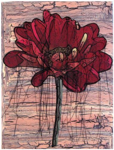 Linda Calverley - Chrysoncrackle - Fabric Print, Machine Embroidery