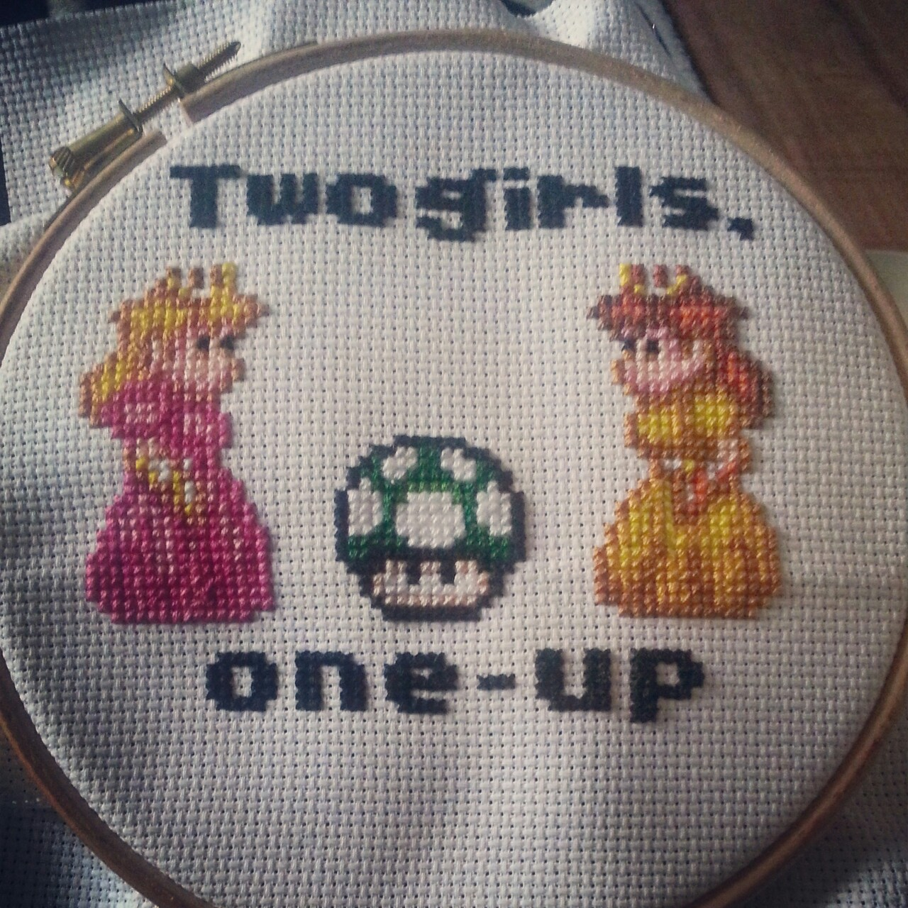 Kaylie-Jane's Two Girls, One Up cross stitch