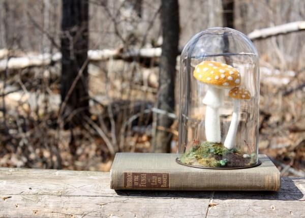 Lil Fish Studios felt mushrooms - needle felt sculpture.