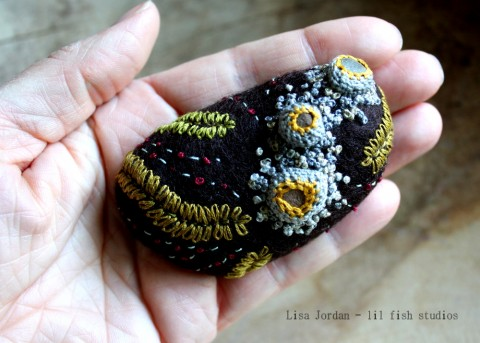 Lil Fish Studios Felted Stone