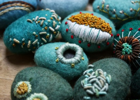 Lil Fish Studios Felted Stones