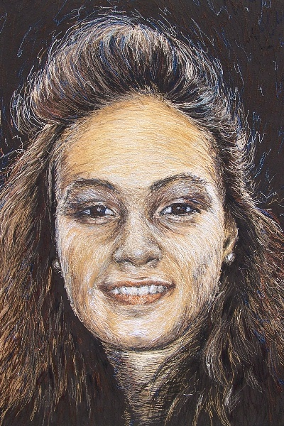 Birgitte Busk - Karoline - Machine Embroidered Portrait