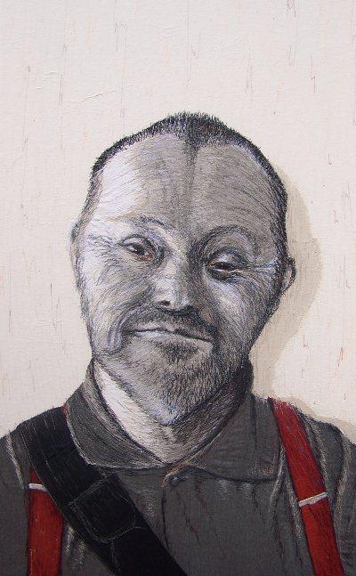 Birgitte Busk - Mogens - Machine Embroidered Portrait