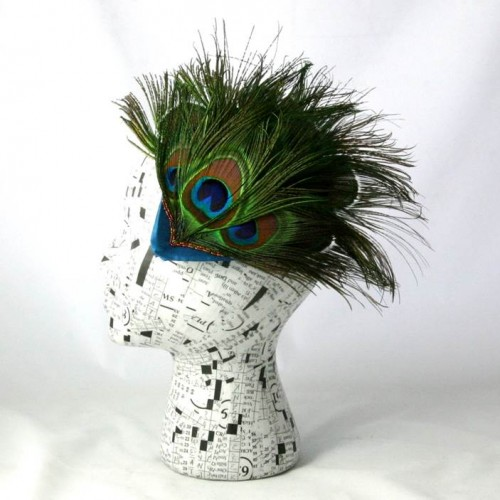 Emily Moe - Peacock Feather Fascinator With Hand-Beaded Detail