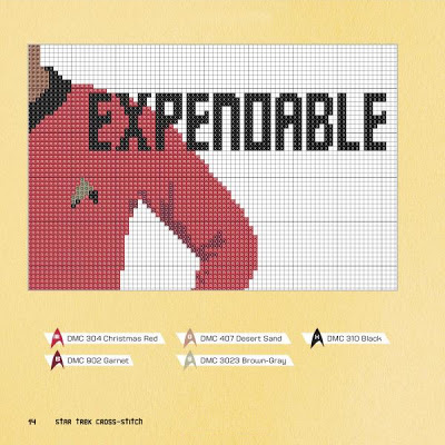 Star Trek Cross Stitch Expendable Pattern by John Lohman