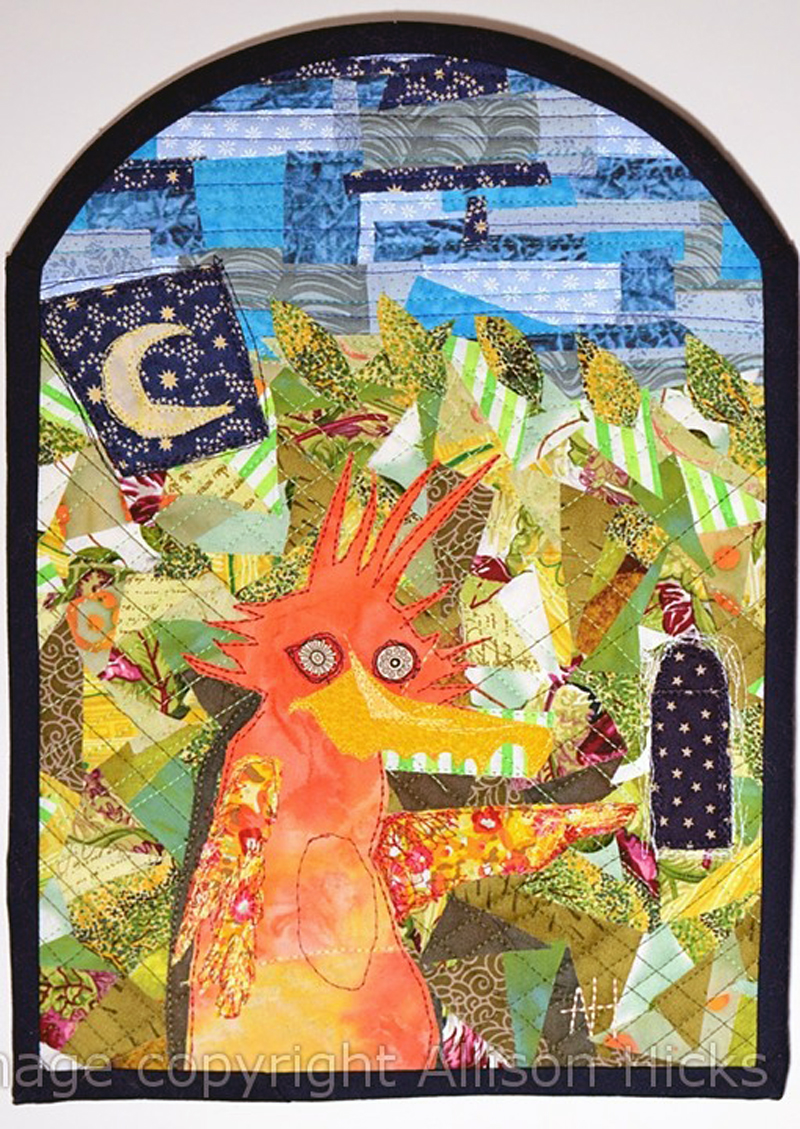 Allison Hicks - Forest Guide - Applique Art Quilt (2012)