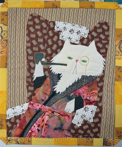 Allison Hicks - The Smoking Jacket - Applique Art Quilt (2013)