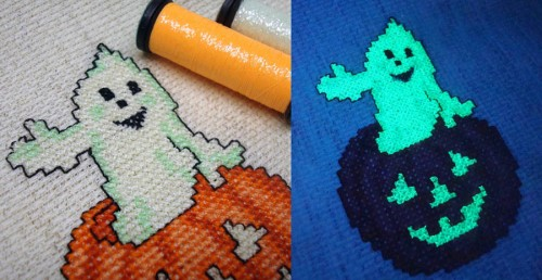 You can do shading with glow-in-the-dark threads, but that may disappear somewhat when the lights go out.