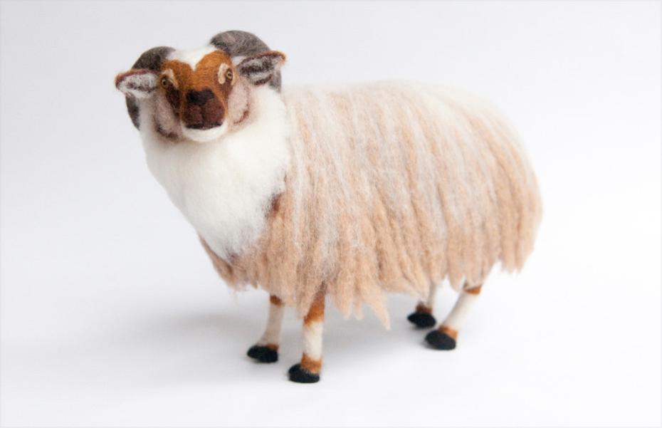 Kiyoshi Mino needle felted Ram