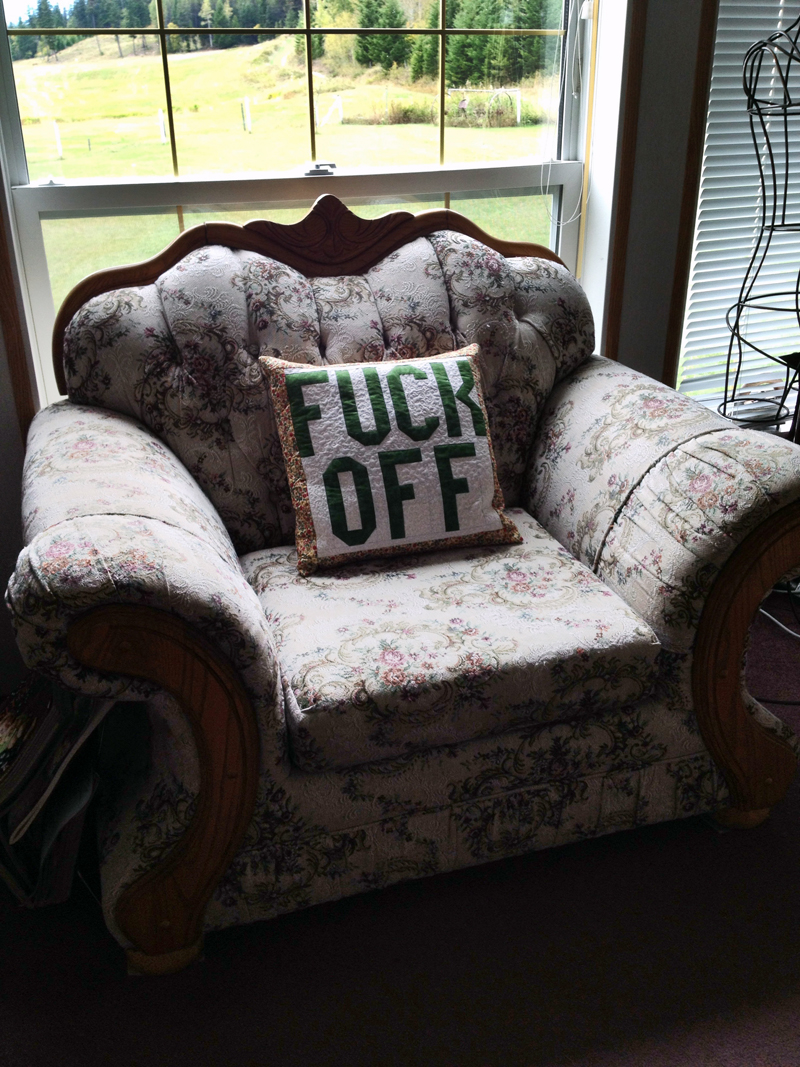 Lindsay Joy's Mum's Quilted Cushion
