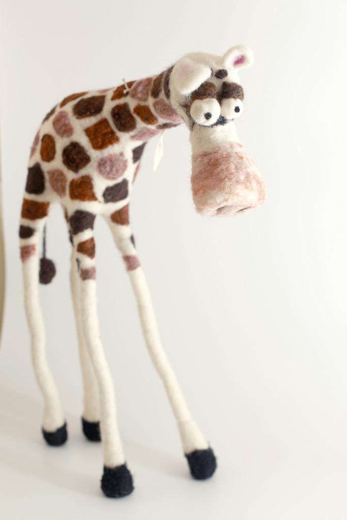 Woolbuddy needle felted Giraffe