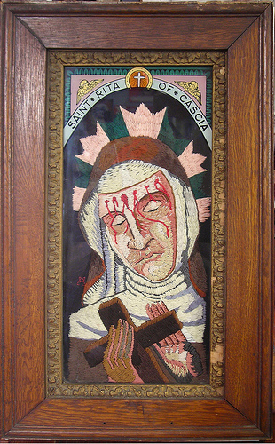 William Schaff - St. Rita of Cascia. Hand embroidery. 2009