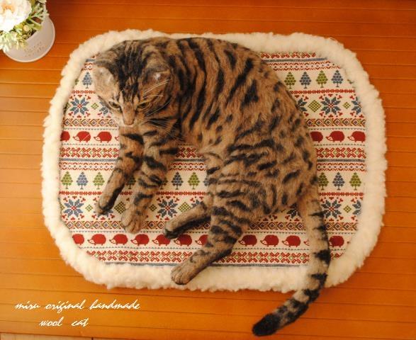 felt cat by Miru