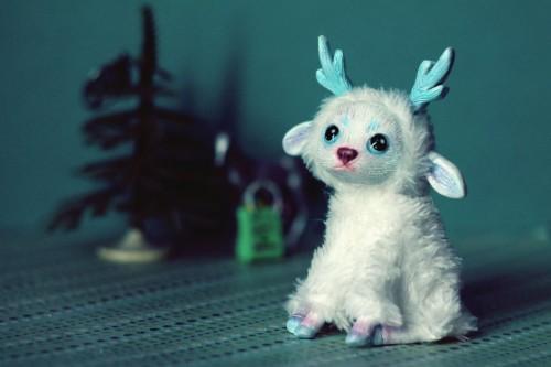 RedFoxAlice's Winter Deer Art Doll