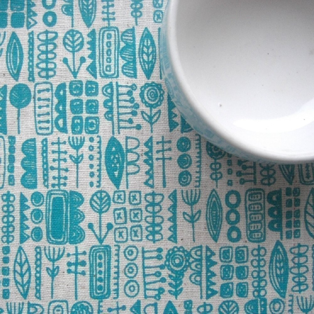 totem-Lu Summers- screen printed fabric