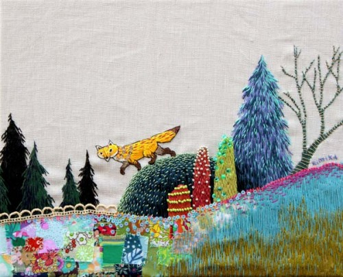 Kimika Hara - Fox - Hand Embroidery