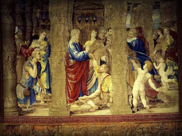 The Healing of the Lame Man (1515) - Tapestry - c. Vatican Museums