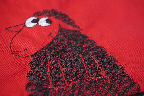 Detail, Black Sheep pouch