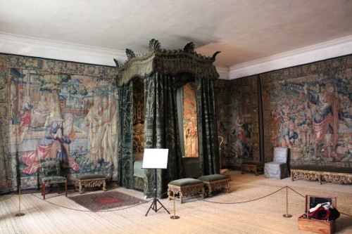 Tapestry-lined room at Hardwick Hall, National Trust